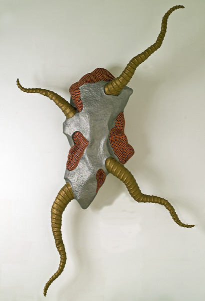 Untitled-PM08 (wall hanging), 2006-2007<br /> acrylic resin, wire mesh, papier-mache<br /> 76 x 50 x 13 inches