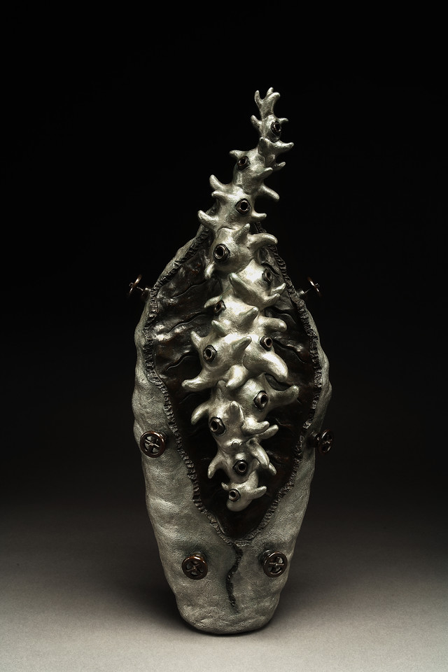Untitled, 2005<br /> cast bronze<br /> 31 x 12 x 9 inches