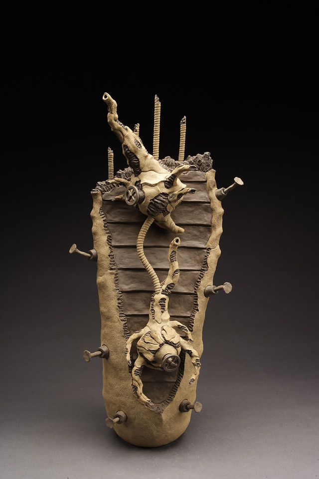 Untitled, 2001<br /> clay<br /> 30 x 14 x 10 inches
