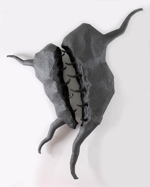 Untitled-PM07(wall hanging), 2006<br /> acrylic resin, wire mesh, papier-mache<br /> 81 x 66 x 14 inches