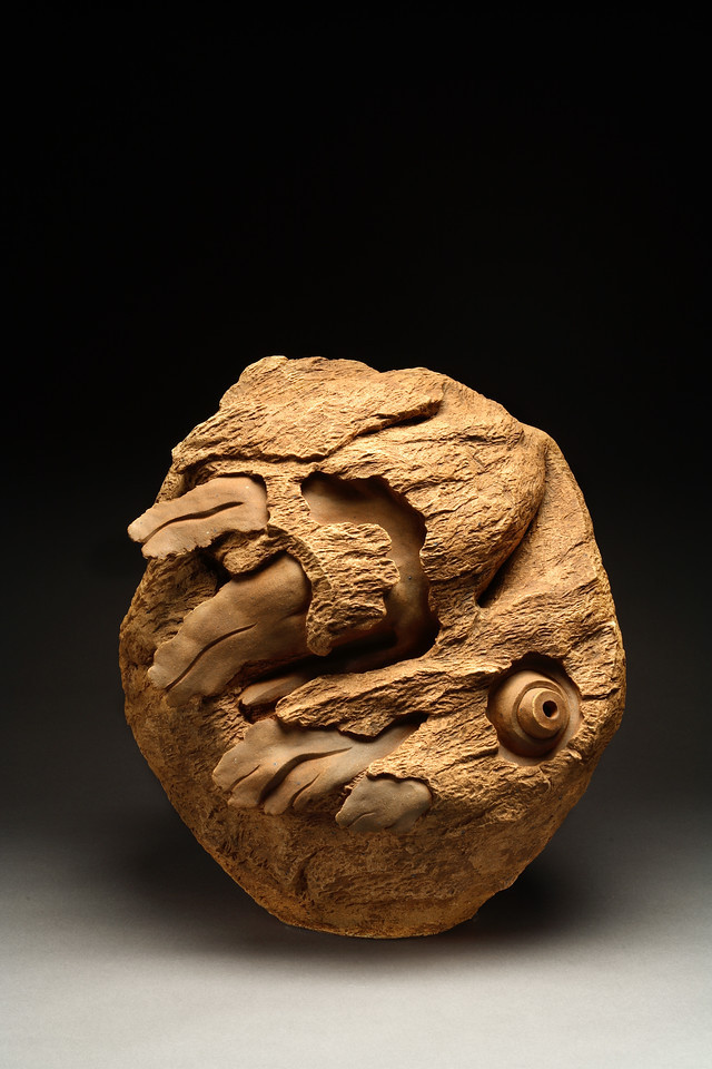 Untitled, 1994<br /> clay<br /> 21 x 19 x 13 inches<br /> Collection of Richard C.Hedreen