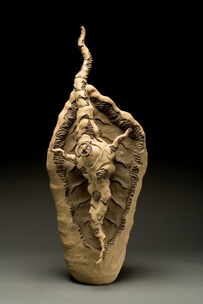 Untitled, 2001<br /> clay<br /> 31 x 12 x 10 inches