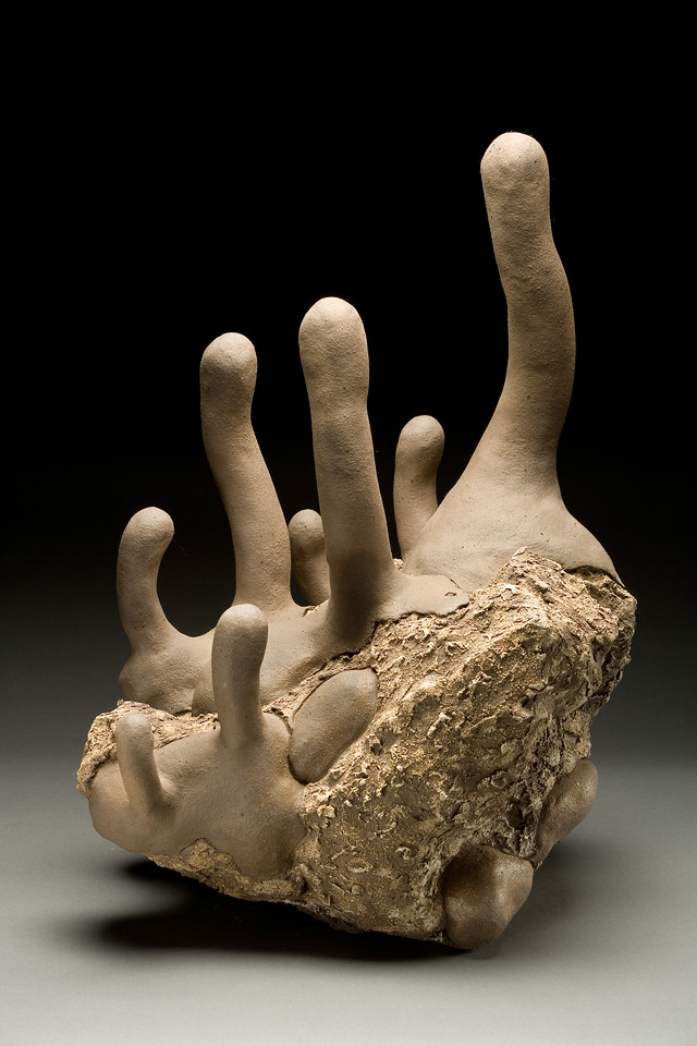 Untitled, 1995<br /> clay<br /> 22 x 15.5 x 14 inches