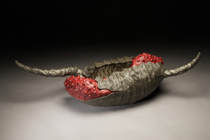 Untitled, 2005<br /> cast bronze, beeswax, resin, pigment<br /> 11x 40 x 13 inches