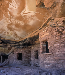 I call this Eggshell Ruins due to the shape and form of the ceiling. It is found in South Eastern Utah.