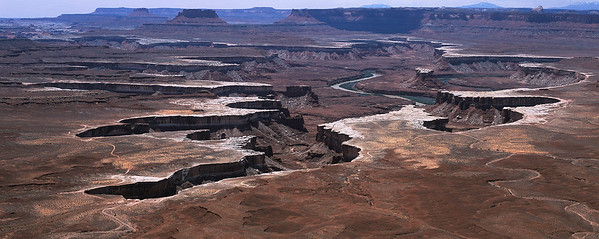 White Rim Overlooking the Colorado River, Island In The Sky, Canyonlands, Moab, Utah