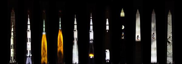 Apollo 11 Mission on Washingron Monument