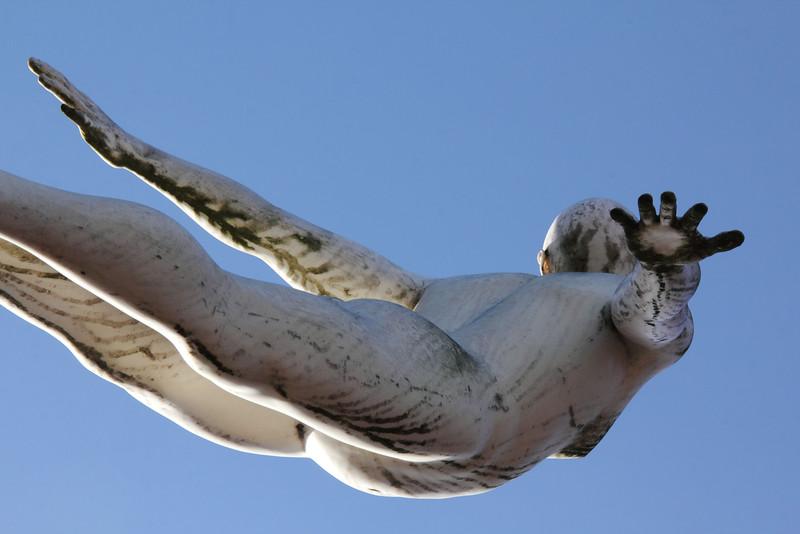 Francis Crick statues, Abington Street, Northampton