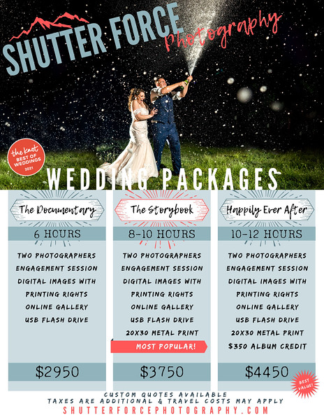 Shutter Force 2022 Packages & Pricing