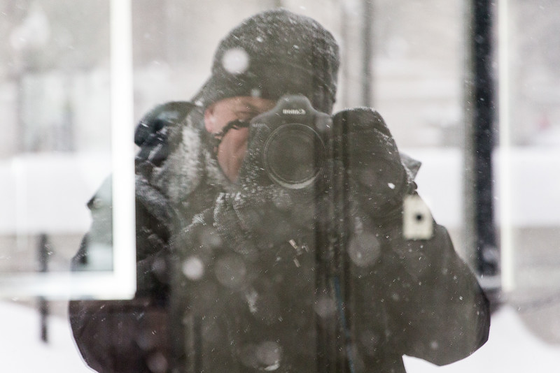 Photographer in the Snow