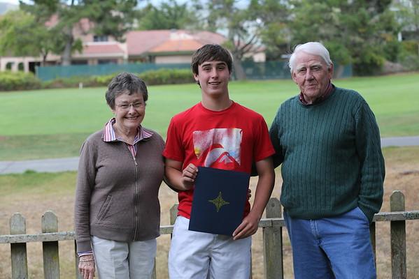 AJ Grad Mom & Dad, 2013
