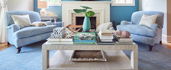 View of living room in private home, Sea Girt, NJ.  Photo by Brandon Vick, http://www.brandonvickphoto.com/