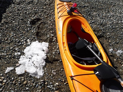 I had to break all the ice that had accumulated in my boat over the weekend before sitting in it. Cold butt paddle!