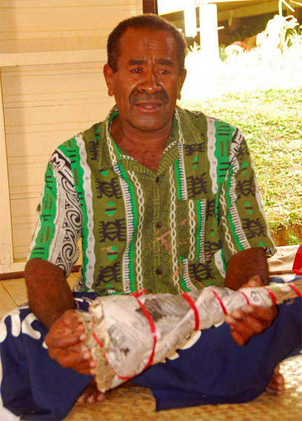 Presenting Kava to the Chief