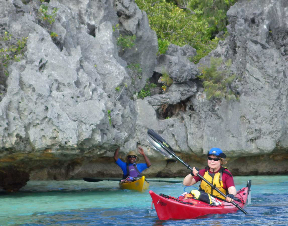 Limestone on Sawa-i-lau Island
