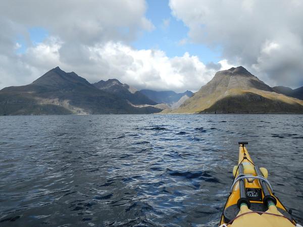 Paddling into Loch Scavaig