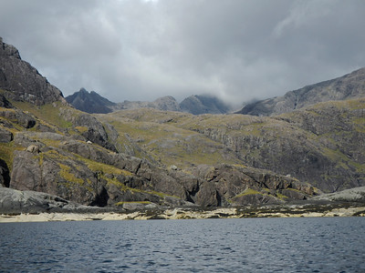 The view to the Cuillins
