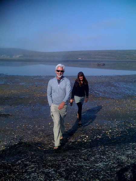 """Mark and Diane scope out the """"beach"""" with (unjustified) optimism about the launch site."""