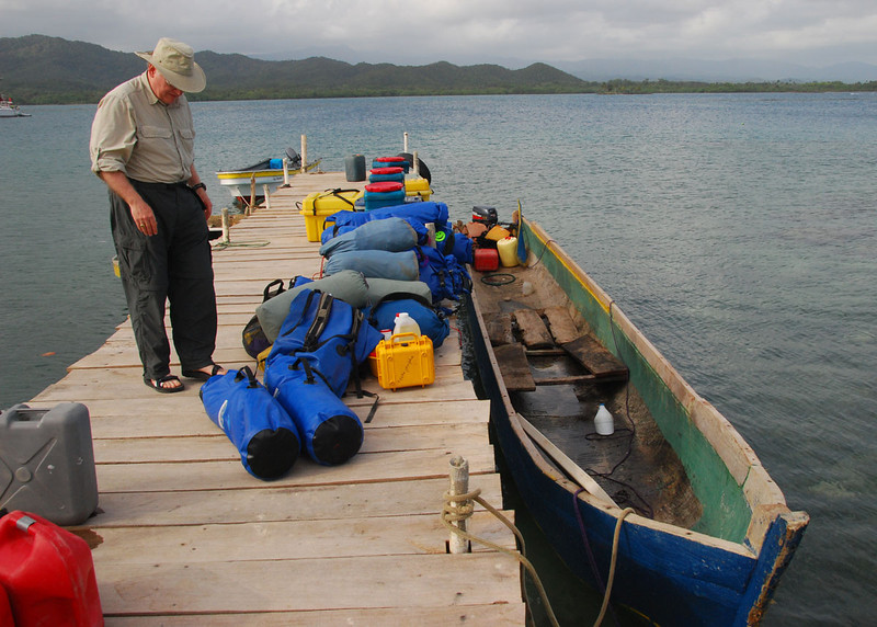 Our gear and food were carried from island to island in a ponga, or motorized dugout canoe.  This made the kayaking rather luxurious by my standards.