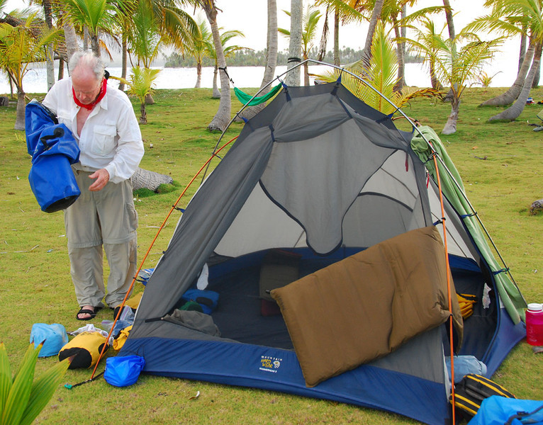 This is our second camp at Sichirdup (Ant Island).  You don't need a sleeping bag, just a sheet in case it gets down to 78 deg at 3 AM.