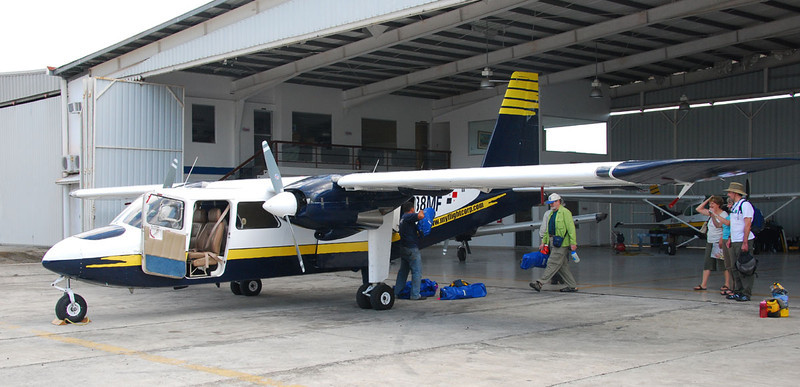 Here's the larger of the two charter planes we took from Panama City to Nargana in Kuna Yala.