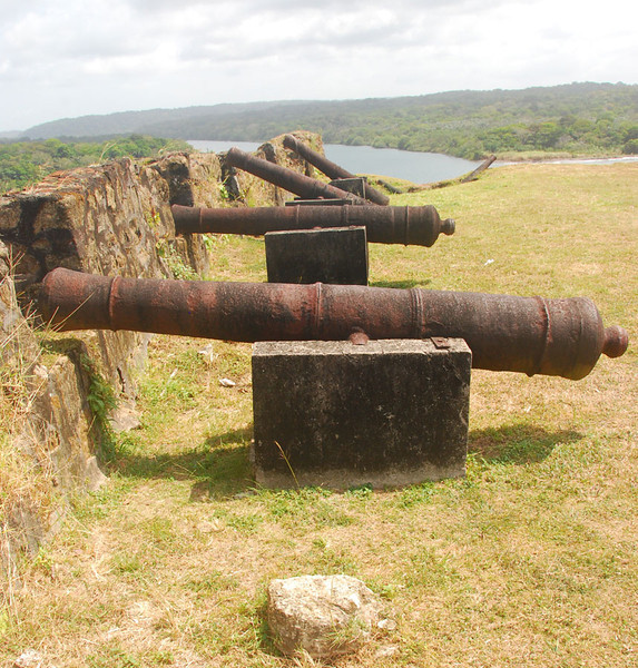 "After the Kuna Yala kayaking we also did a day kayak trip down the Chagres River.  The takeout was just below the old fort of San Lorenzo.  The English pirate Henry Morgan captured San Lorenzo in 1670 after three days of bloody fighting in which only 30 of the 313 Spanish defenders survived.  Henry and his boys then headed up the Chagres and eventually captured and looted Panama City.  The pirates were very naughty during their visit to Panama, and Morgan's name is still spoken in Panama with the same snarl that Rush Limbaugh uses when saying ""Obama."""
