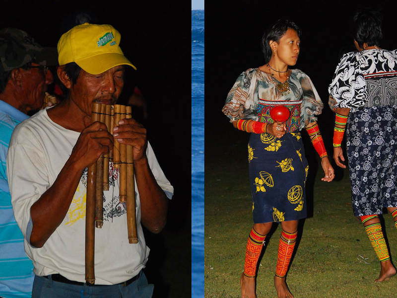 The night we spent at Digirdup, the locals came and gave us some Kuna dances.  The only instruments were pan pipes and the dances were simple, and 100% authentic.