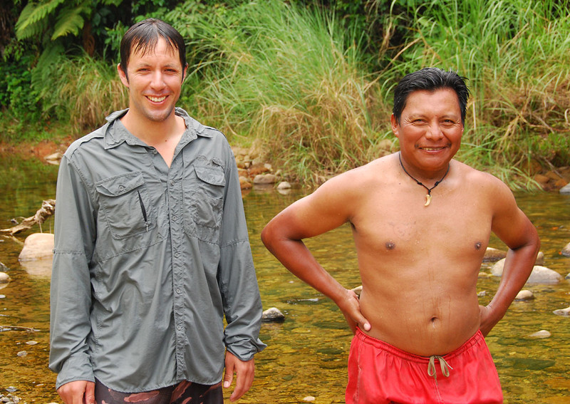 Here are our two excellent guides:  Matias and Nemesio.  Questions to a local went English --> Matias --> Spanish --> Nemesio --> Kuna, and then back again with the answer from Kuna to Spanish to English.