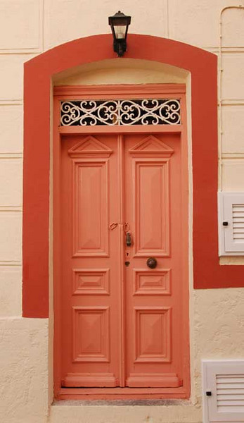 Every door in every village seems to be painted a different color.
