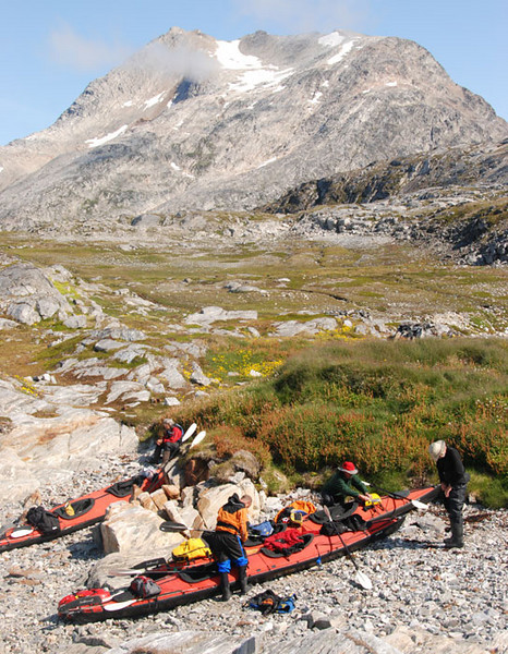 Our first camp was only a short ways from Kuummiut, on the site of a traditional Inuit hunting and fishing camp.