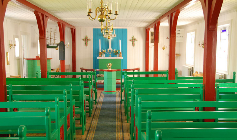 This is the inside of the village church.  Just days before we arrived, Kulusuk celebrated the 100th anniversary of the arrival of the first missionary on Aug 08, 1909.