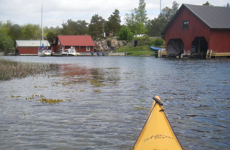 Here we are approaching the village of Harstena on one of the outer islands.  There are a few dozen buildings, but only a couple of year-round residents.  Everyone else comes just for the summer.