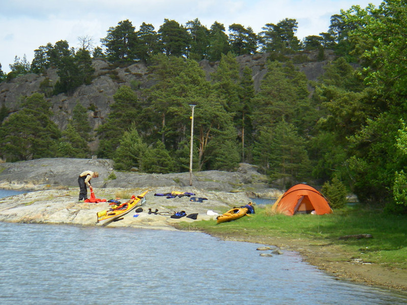 You just find a nice spot, go ashore, and set up camp