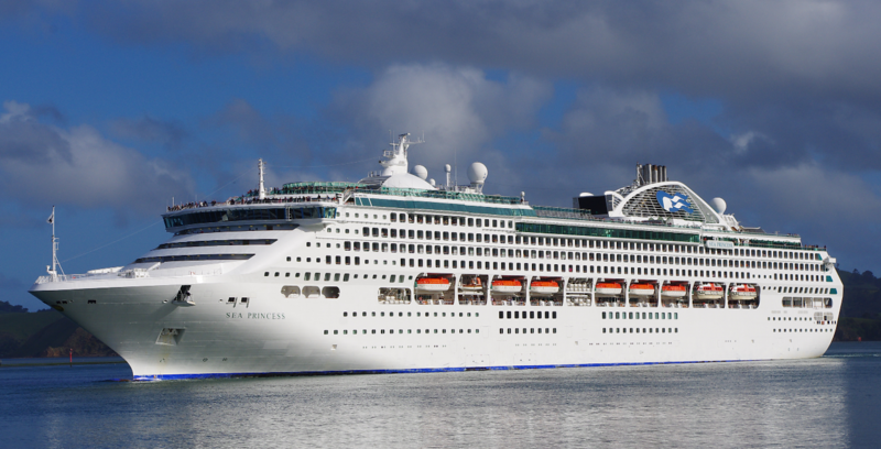 The Sea Princess, a super cruise ship