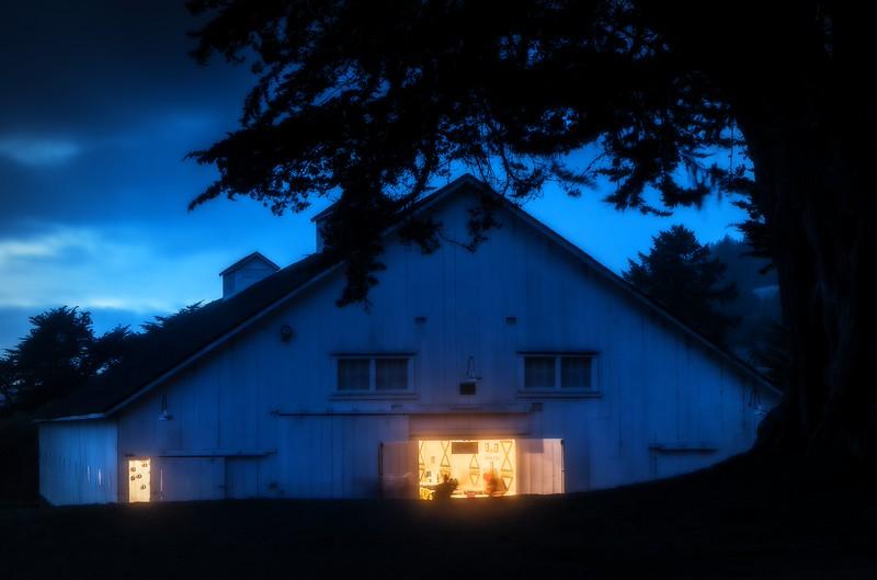 Night Barn, Sea Ranch, California