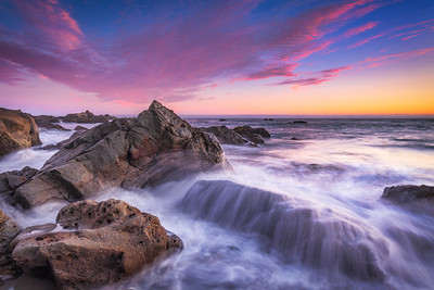 Sunset Cascade, Sea Ranch, California