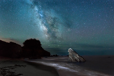 Pebble Bach at Night, Sea Ranch, California