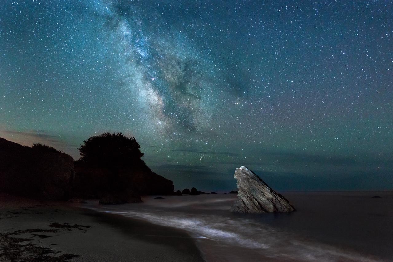 Pebble Bach at Night, Sea Ranch, California