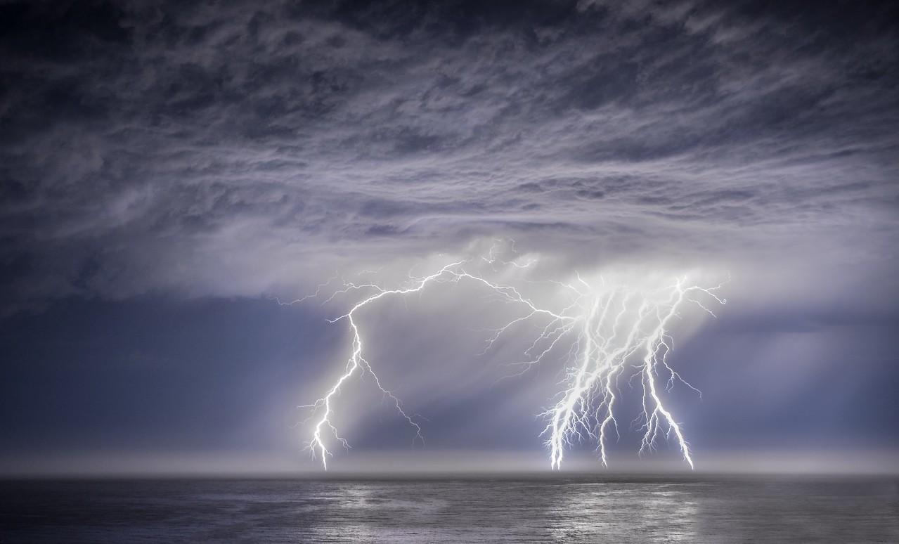 Lightning Storm, Study # 2, Sea Ranch, California