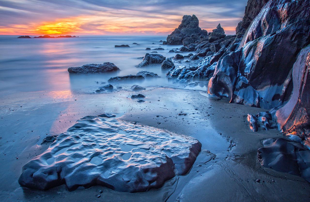 Sunset Rocks, Sea Ranch, California