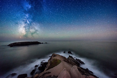 Gualala Point Island & Milky Way, Sea Ranch, California