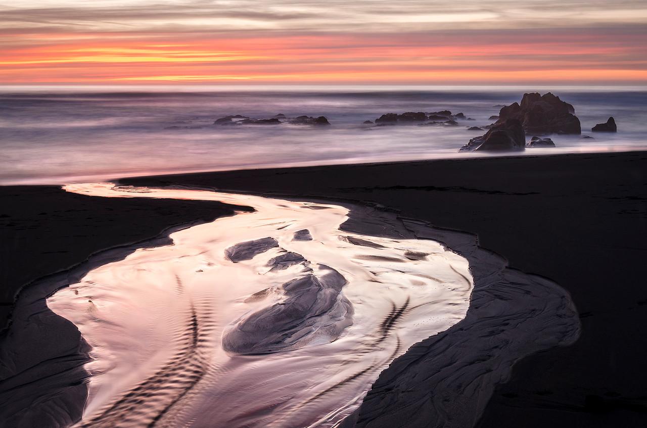 Winter - Walk On Beach, Sea Ranch, California