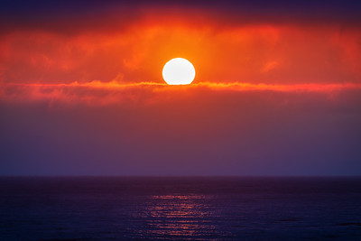Fiery Sunset, Sea Ranch, California