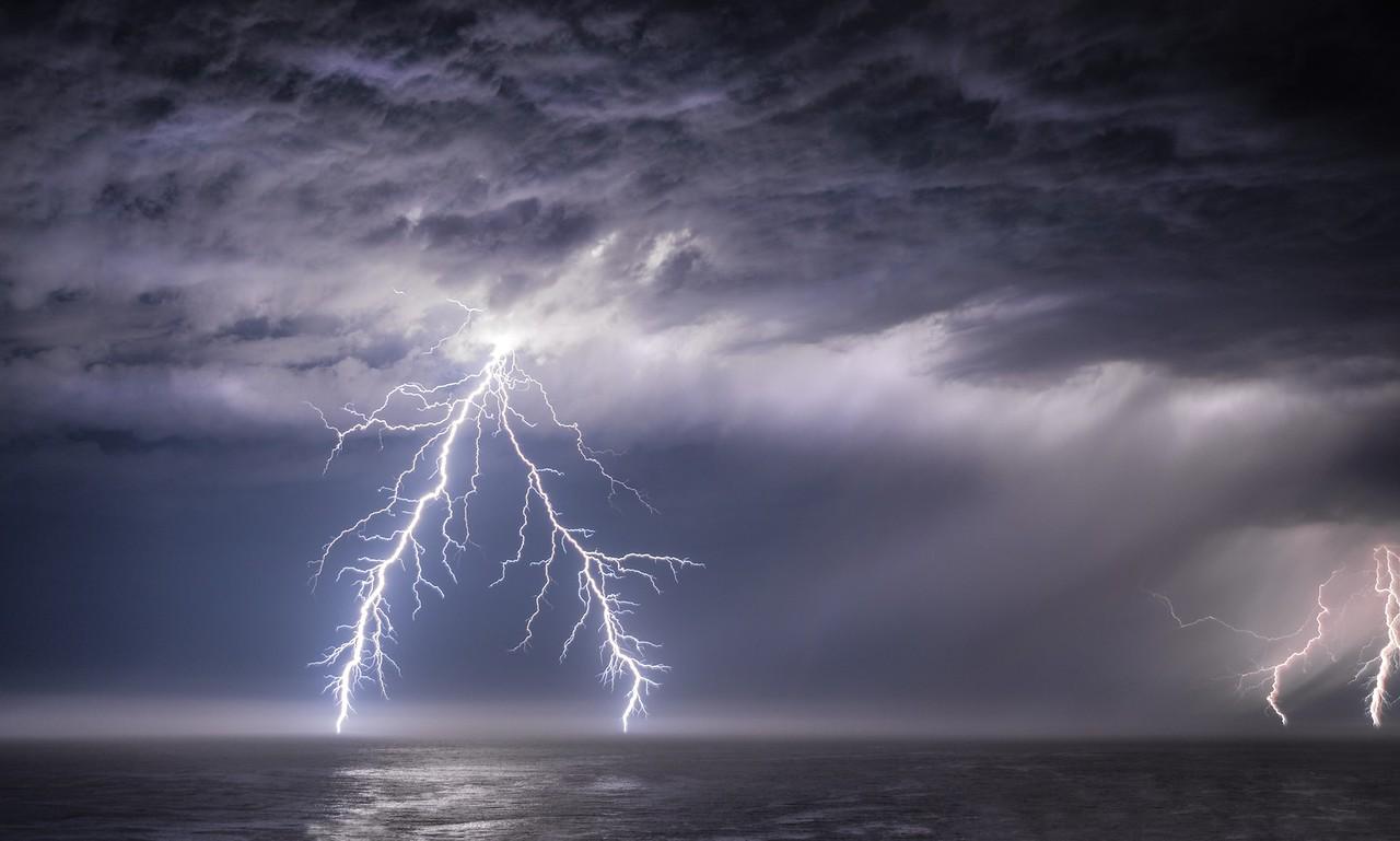 Lightning Storm, Study # 1, Sea Ranch, California
