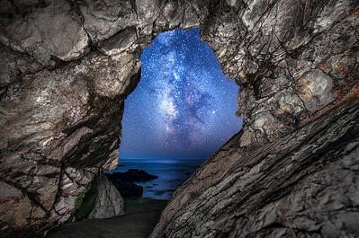 Sea Cave & Milky Way, South, Breaker Reach, Sea Ranch, California