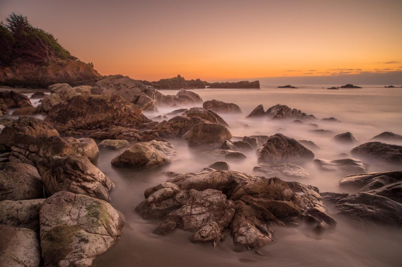 Rocky Beach at Sunset, Sea Ranch, California