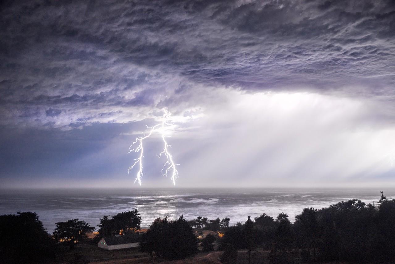 Lightning Storm, Study # 5, Sea Ranch, California