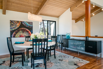Dining room with adjoining deck
