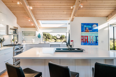 Large island for prep, dining, and entertaining