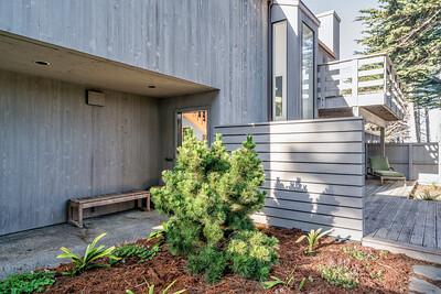Front Door - Entry - Garden - Back Deck